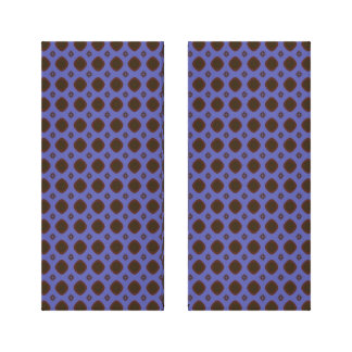 blue brown shapes pattern stretched canvas print