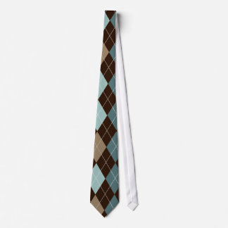 Blue/Brown Stylish Argyle Tie