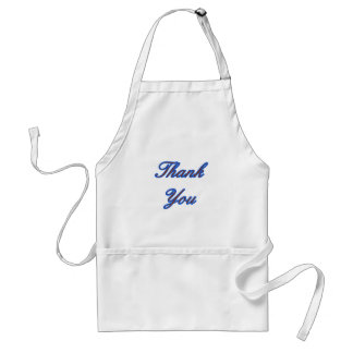 Blue Brown Thank You Design The MUSEUM Zazzle Gift Adult Apron