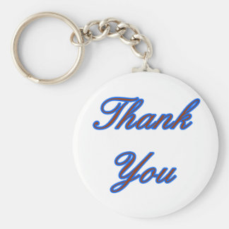 Blue Brown Thank You Design The MUSEUM Zazzle Gift Key Chain