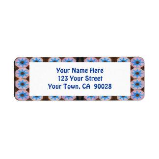 blue brown tile address labels