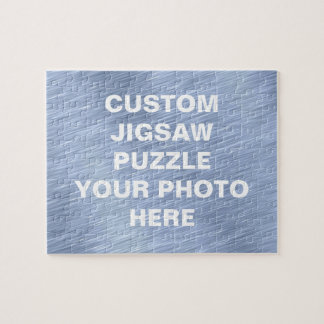 Blue Brushed Metal Textured Jigsaw Puzzle