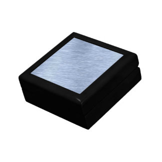 Blue Brushed Metal Textured Small Square Gift Box