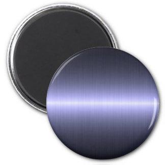 blue brushed strong fridge magnet