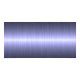 blue brushed strong picture card