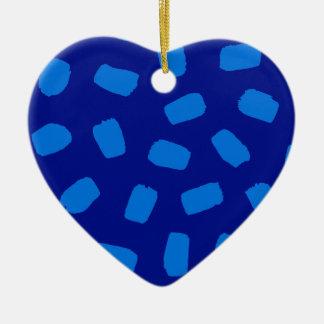 Blue Brushstrokes Christmas Ornament