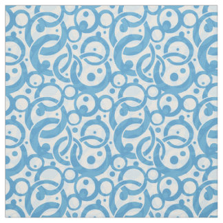 Blue Bubble Fabric
