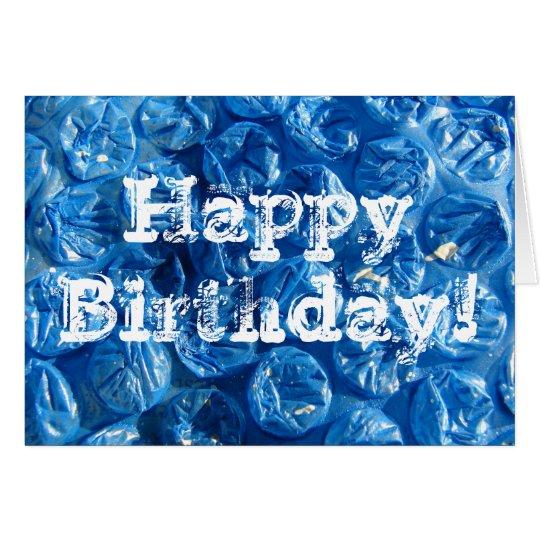 Blue Bubble Texture, Happy Birthday! Card