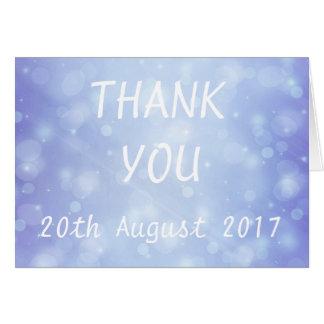 Blue Bubble Vintage Wedding Thank You Card