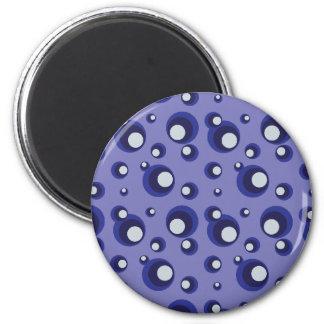 Blue Bubbles 6 Cm Round Magnet