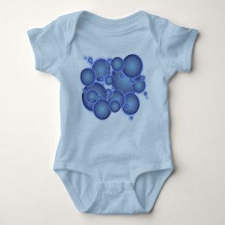 blue bubbles baby bodysuit