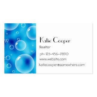 Blue Bubbles Business Cards