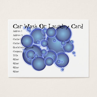 Blue Bubbles Car Wash Or Laundry Card