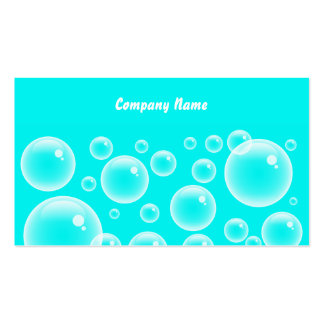 Blue Bubbles, Company Name Business Card Template