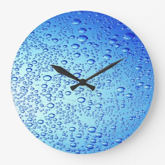 Blue Bubbles Design for Round-Large-Wall-Clock Large Clock
