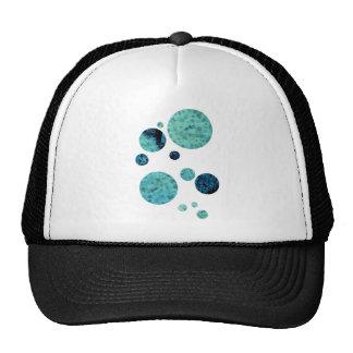 Blue bubbles trucker hat