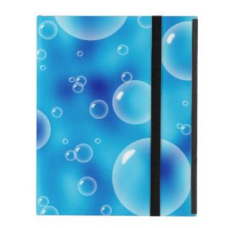 Blue Bubbles iPad Folio Case