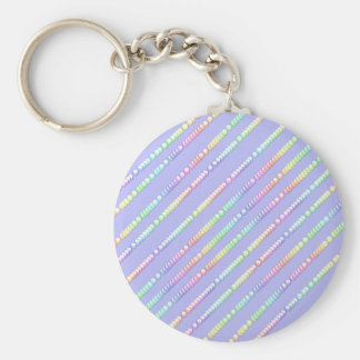 Blue Bubbles Basic Round Button Key Ring