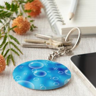 Blue Bubbles Key Chains
