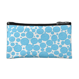 Blue Bubbles Lightened Makeup Bag