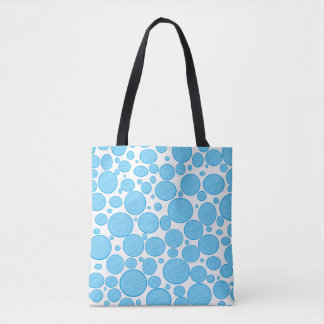 Blue Bubbles Lightened Tote Bag