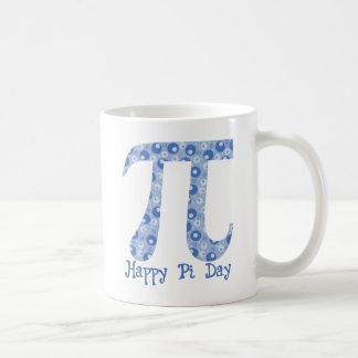 Blue Bubbles Pi Coffee Mug