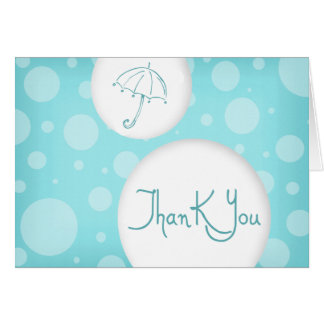 blue- bubbles thank you greeting card