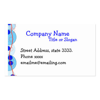 Blue Bubbles with Red Accents Business Card