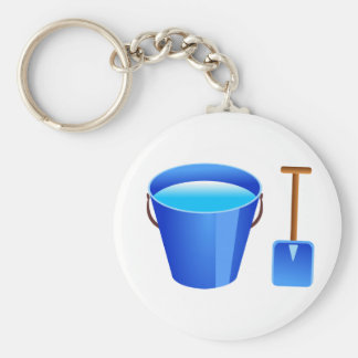 Blue Bucket & Spade Key Ring