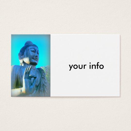 blue buddha business card
