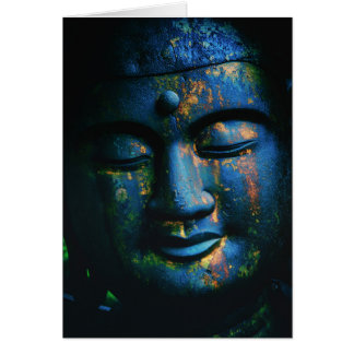 Blue Buddha Om Peace Card