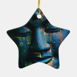Blue Buddha Om Peace Christmas Ornament