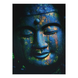 Blue Buddha Om Peace Photograph