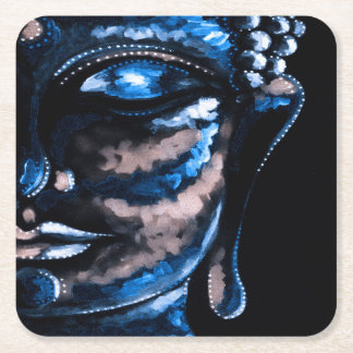 BLUE BUDDHA Square Coasters