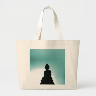 Blue Buddha Tote Canvas Bag
