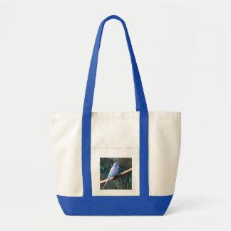 Blue Budgie Tote Bag