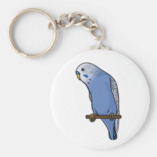 Blue Budgie Basic Round Button Key Ring