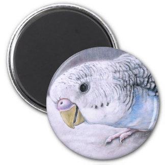 """""""Blue Budgie"""" Bird Art Magnet"""