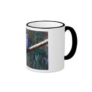 Blue Budgie Coffee Mugs