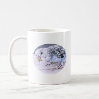 Blue Budgie Parakeet Bird Art Mug