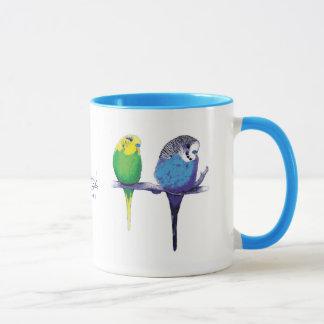 Blue Budgie Parrot Bird Mug