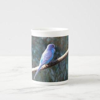 Blue Budgie Bone China Mug