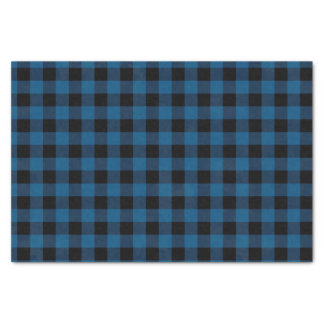 Blue Buffalo Check Tissue Paper