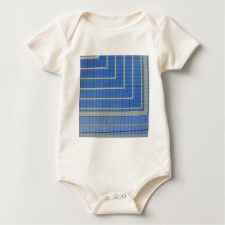 Blue Building Block 4 Baby Bodysuit