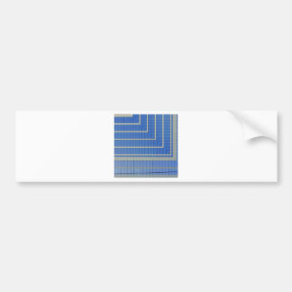 Blue Building Block 4 Bumper Sticker