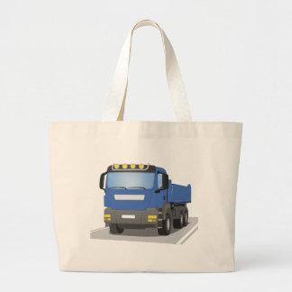 blue building sites truck large tote bag