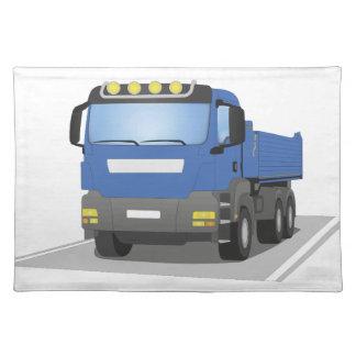 blue building sites truck placemat