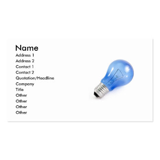 Blue bulb pack of standard business cards