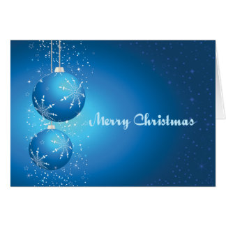 Blue Bulbs Greeting Card