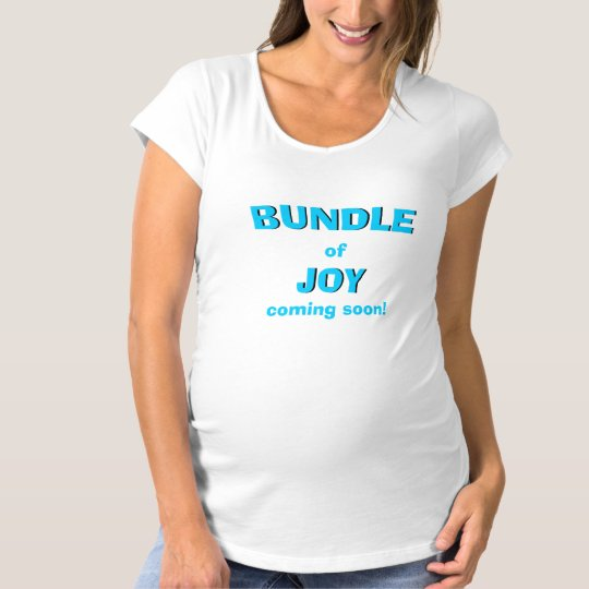 Blue Bundle of Joy Pregnancy Women T Shirt